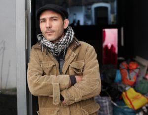 19.04.2012 Berlin/Mitte, Auguststrasse 69, KW Institute for Contemporary Art Auf dem Bild: Hector Huerga, Occupy Activist aus Spanien Red: Seite 3